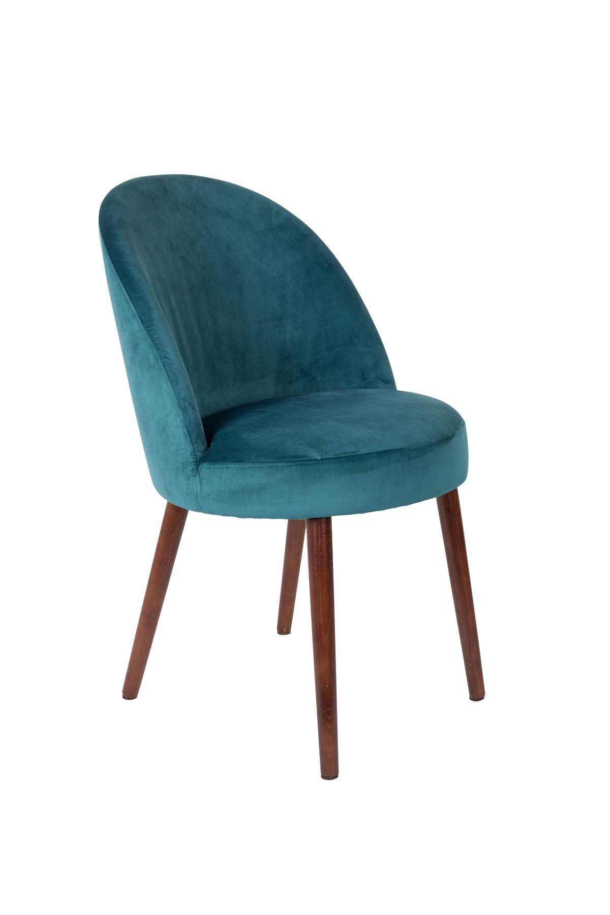 Krzesło Barbara niebieskie