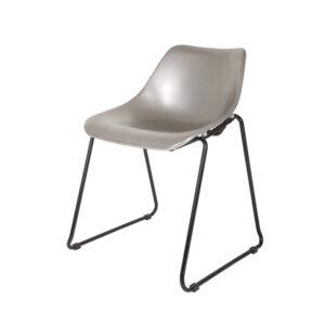 Krzesło BUCKET srebrne