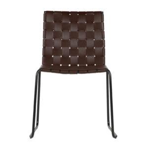 Krzesło Icon skórzane, ciemny brąz