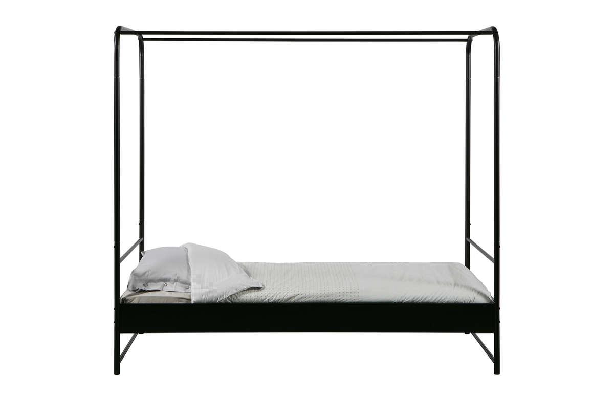 Łóżko BUNK metalowe czarne 90x200 cm