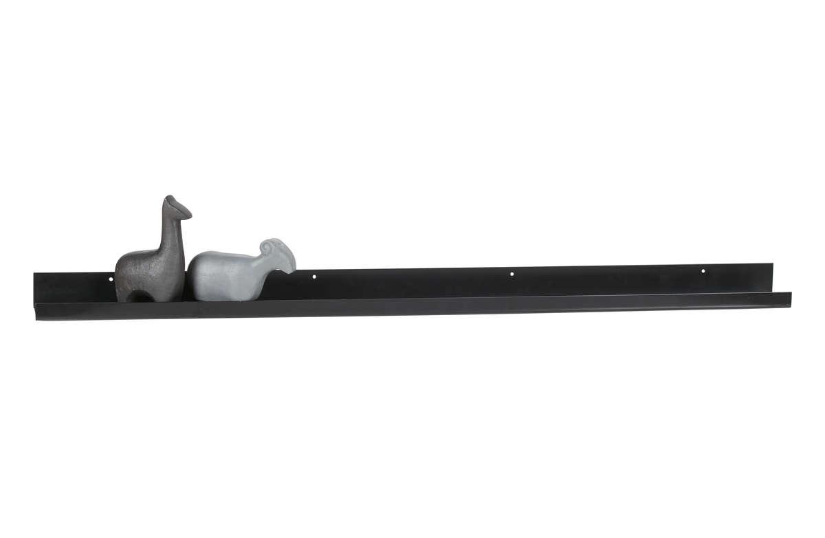 Półka Ravi metalowa czarna 120cm