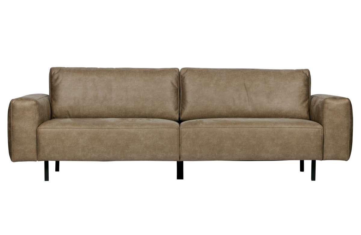 Rebound sofa 3-seater kawowy