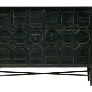 Komoda Bequest 2-drzwiowa drewniana czarna