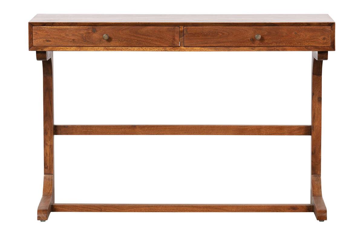 Biurko OLD SCHOOL drewniane brązowe