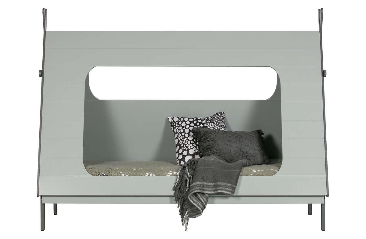 Łóżko Tipi szare 90x200 z listwami