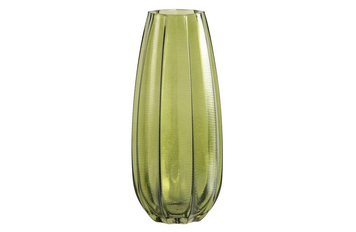 Wazon szklany Kali zielony 35xØ15