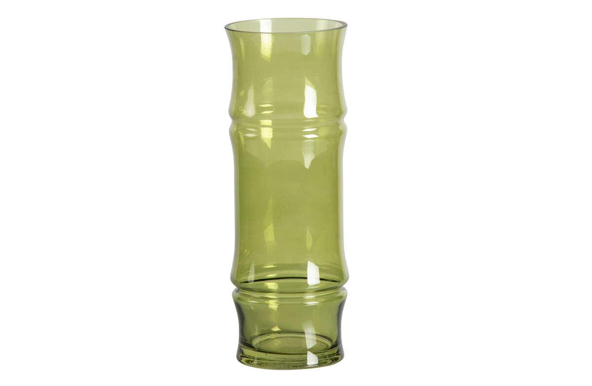 Szklany wazon Kane zielony 30xØ11