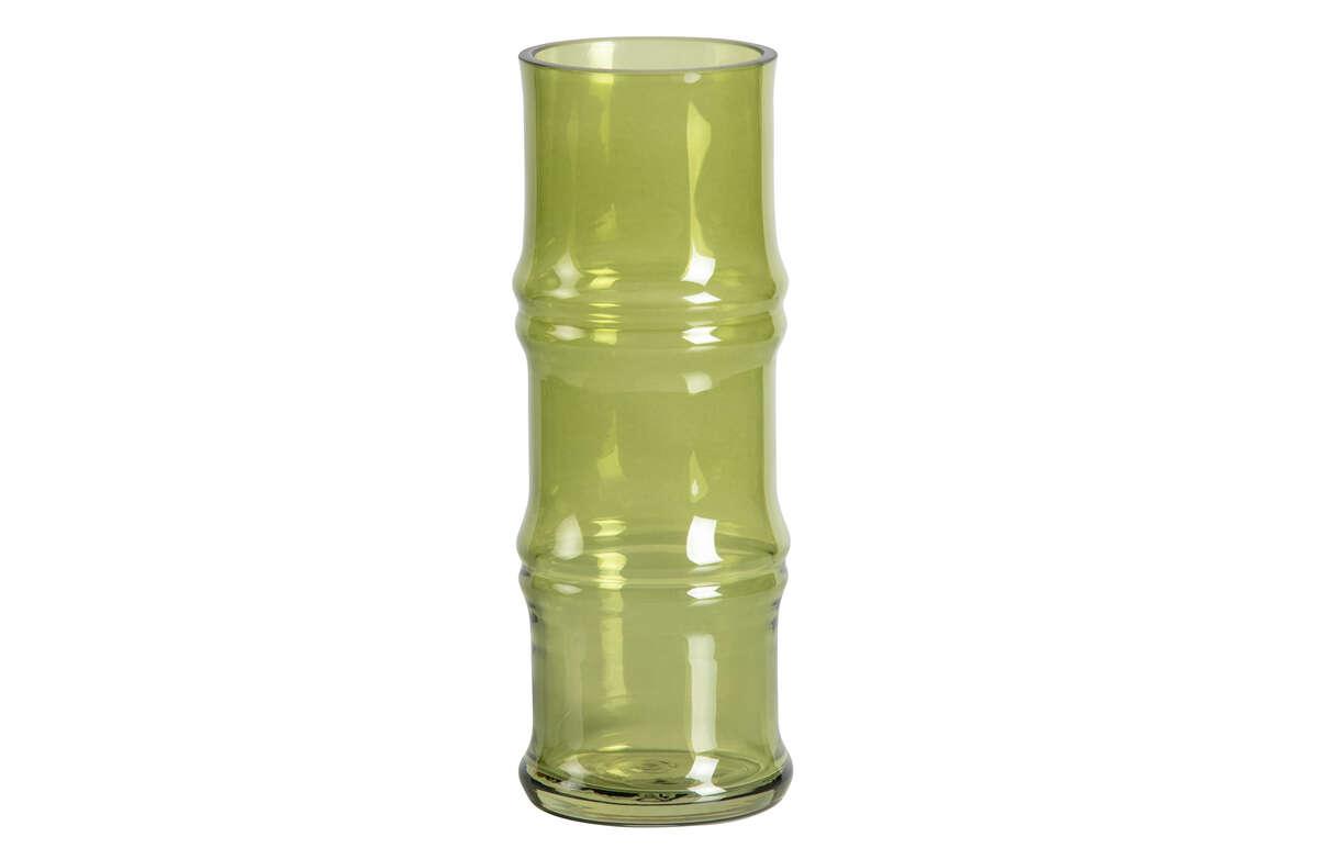 Szklany wazon Kane zielony 25xØ9