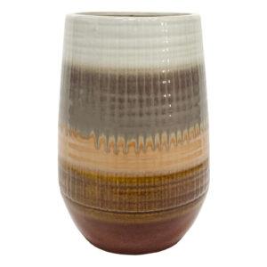 Wazon ceramiczny Lava brązowy 28xØ19cm