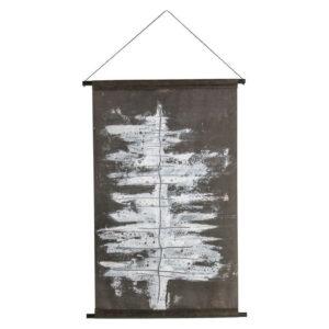 Plakat z zimowym drzewem velvet czarno-biały