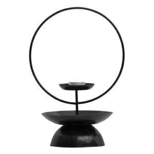 Świecznik metalowy Level czarny 31cm