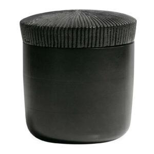 Pudełko drewniane czarne 16xØ15cm