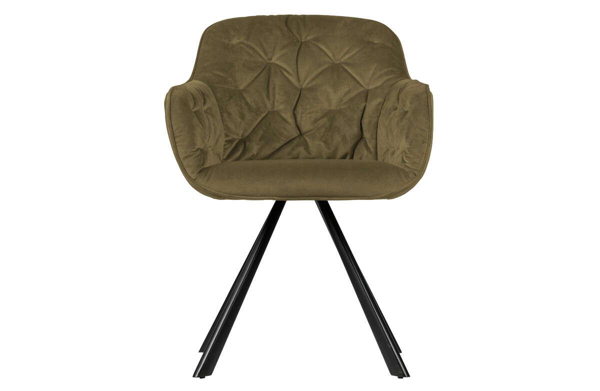 Krzesło Elaine velvet wojskowa zieleń