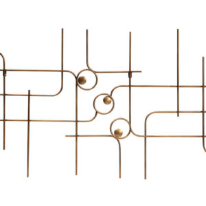 Dekoracja ścienna Symphony metalowa antyczny mosiądz