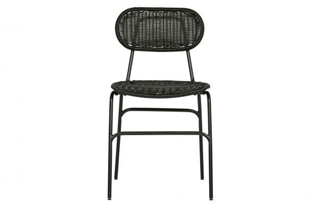 Krzesło do jadalni BRITT czarny