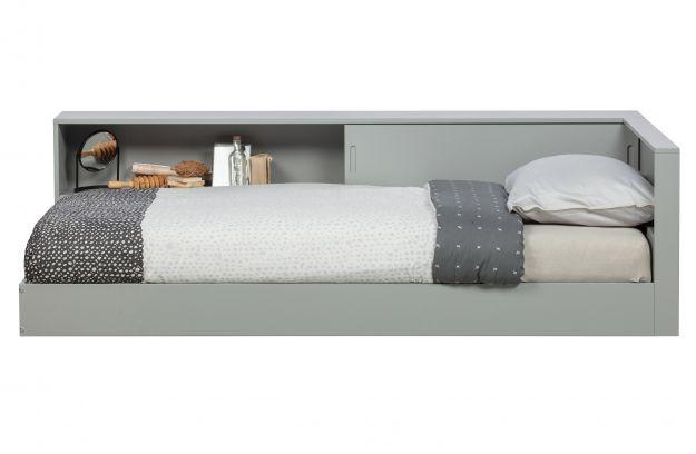 Łóżko narożnikowe CONNECT  szary betonowy [fsc]