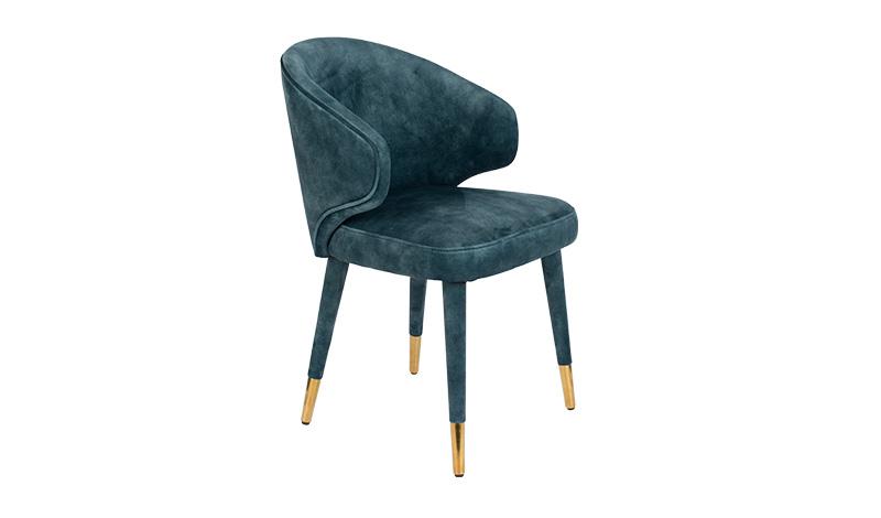 Krzesło LUNAR VELVET PETROL FR