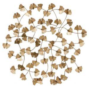 Metalowa dekoracja ścienna WALLFLOWERS antyczny mosiądz