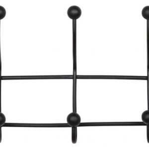 Metalowy wieszak czarny