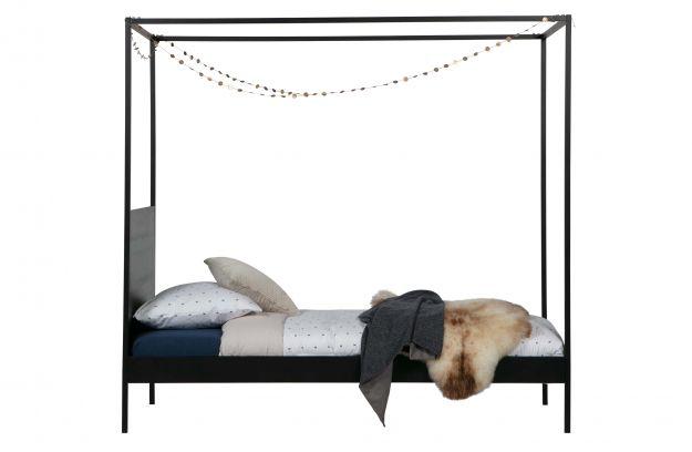 Łóżko BARON czarne 90x200 cm