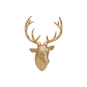 Złota głowa jelenia