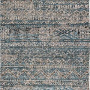 Wielokolorowy Kilimowy Dywan - ZEMMURI BLUE 9110 - Rozmiar: 140x200 cm