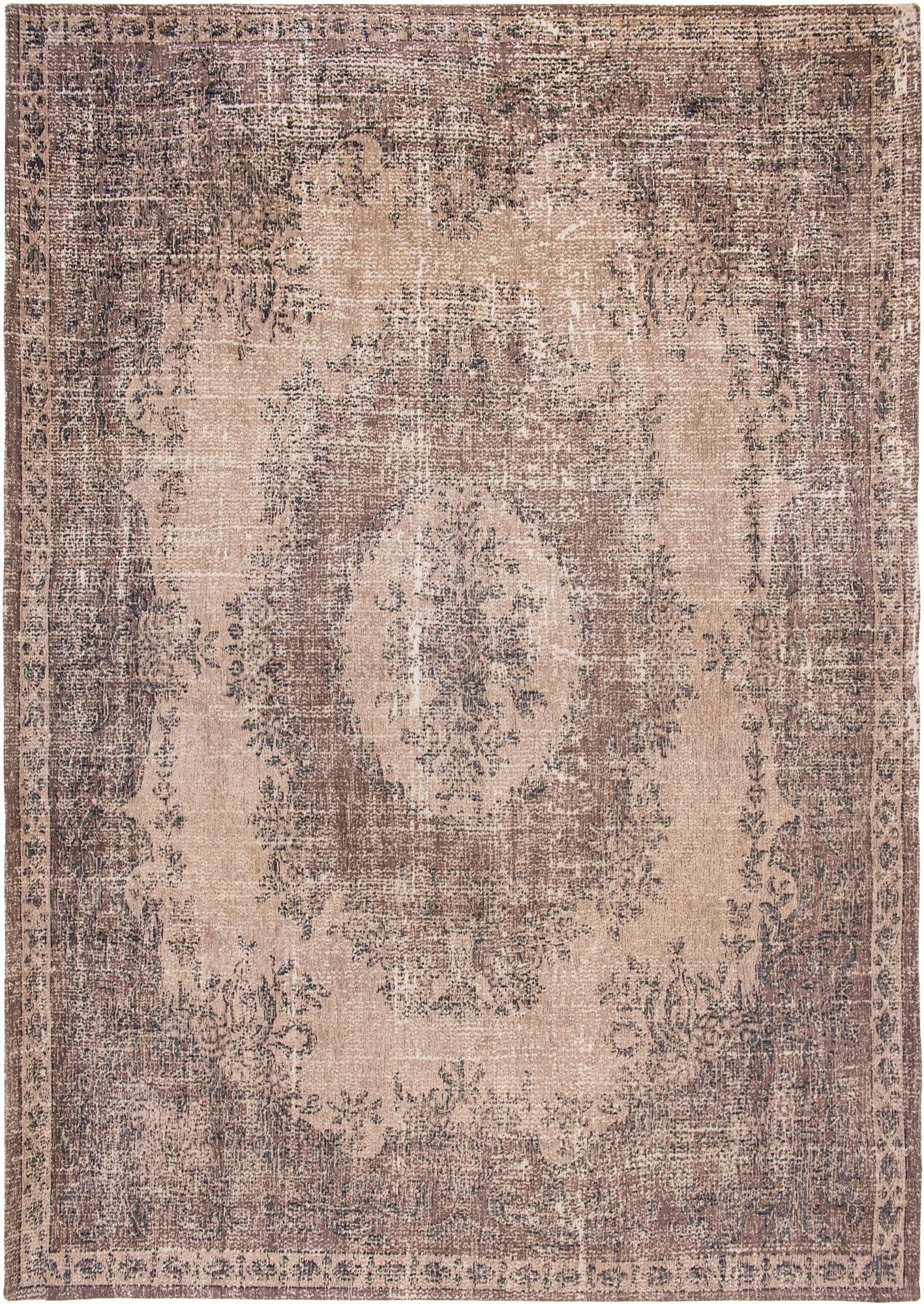 Brązowo Beżowy Dywan Vintage - FOSCARI BROWN 9139 - Rozmiar: 80x150 cm