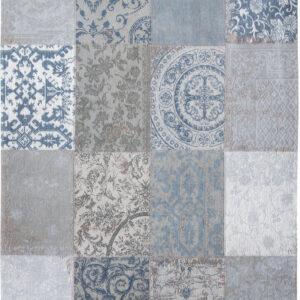 Niebieski Dywan Patchwork - BRUGES BLUE 8981 - Rozmiar: 170x240 cm