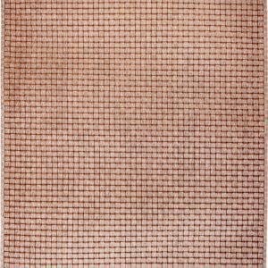 Szaro Pomarańczowy Dywan Nowoczesny - QUADRINI ARANCIONE 9019 - Rozmiar: 170x240 cm