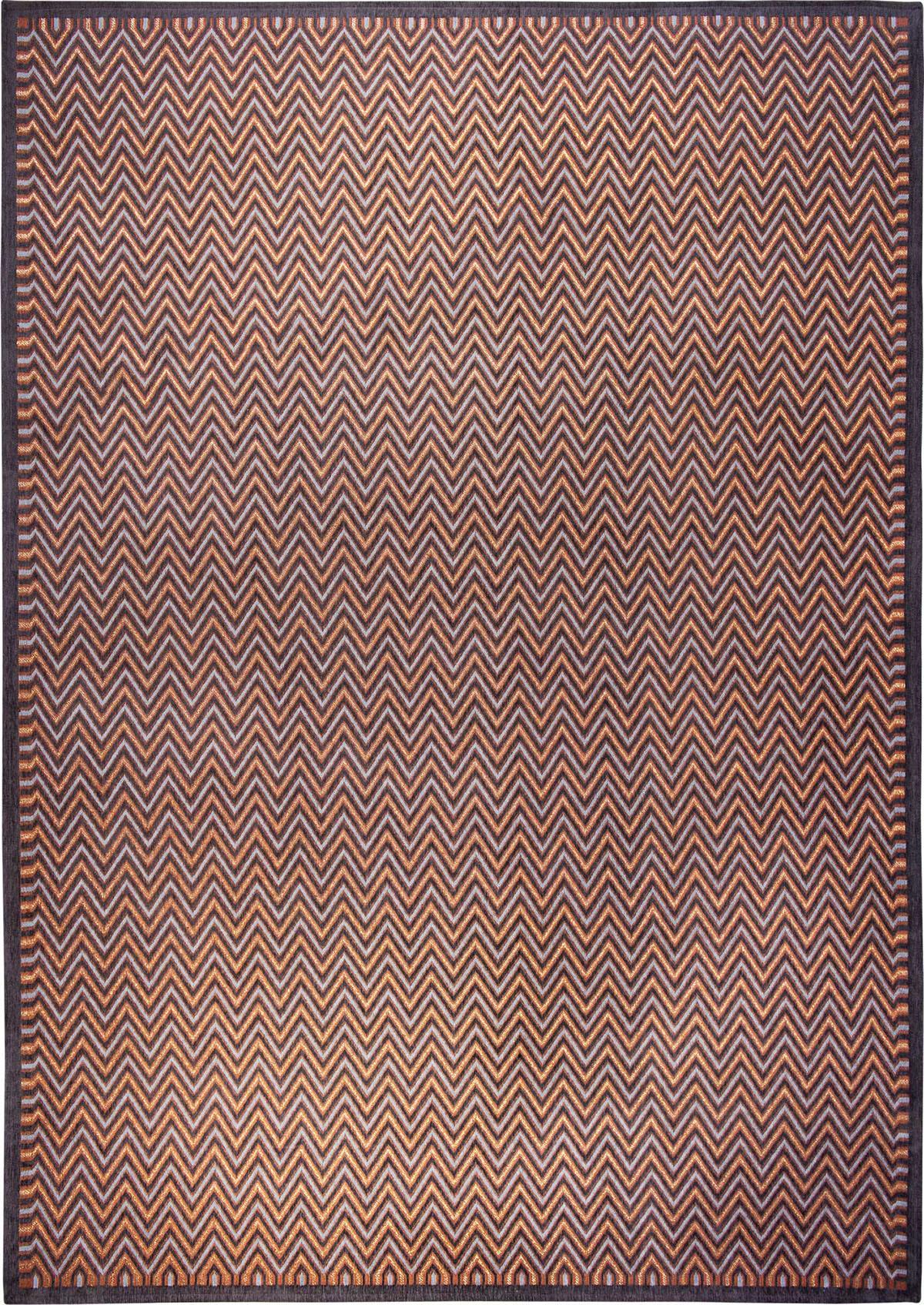 Szaro Pomarańczowy Dywan Nowoczesny - DOLOMITI URBANIO 9012 - Rozmiar: 170x240 cm