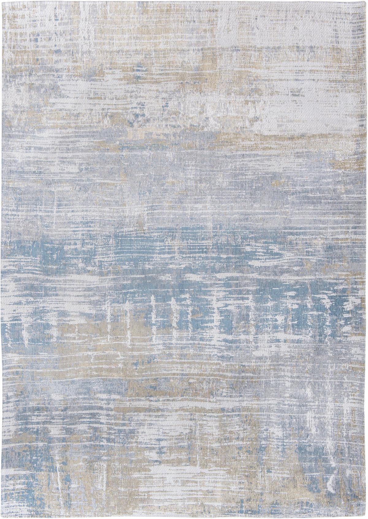 Beżowo Niebieski Dywan Nowoczesny - LONG ISLAND BLUE 8718 - Rozmiar: 230x330 cm