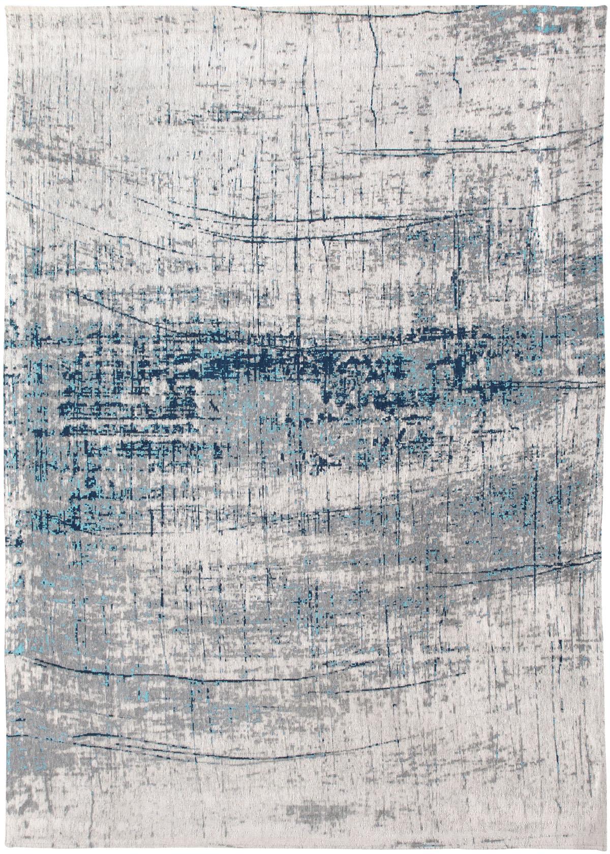 Biało Niebieski Dywan Nowoczesny - BRONX AZURITE 8421 - Rozmiar: 230x330 cm
