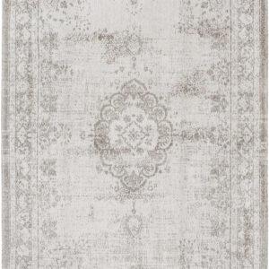Biały Dywan Klasyczny - SALT & PEPPER 8383 - Rozmiar: 80x150 cm