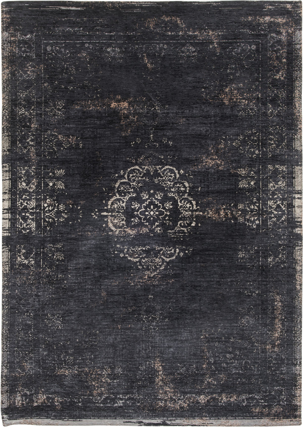 Czarny Dywan Klasyczny - MINERAL BLACK 8263 - Rozmiar: 230x330 cm