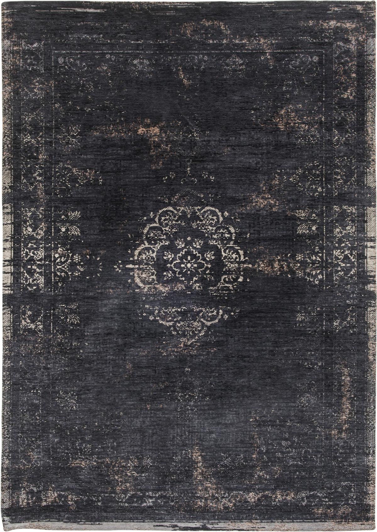 Czarny Dywan Klasyczny - MINERAL BLACK 8263 - Rozmiar: 80x150 cm
