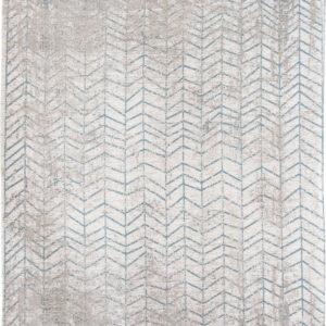 Niebiesko Biały Dywan w Jodełkę - TRIBECA BLUE 8927  - Rozmiar: 170x240 cm