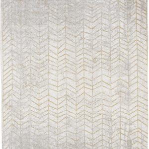 Złoto Biały Dywan w Jodełkę - CENTRAL YELLOW 8928 - Rozmiar: 200x280 cm