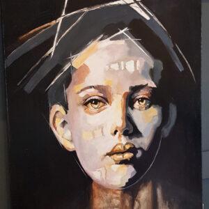 Obraz ręcznie malowany Twarz Kobiety