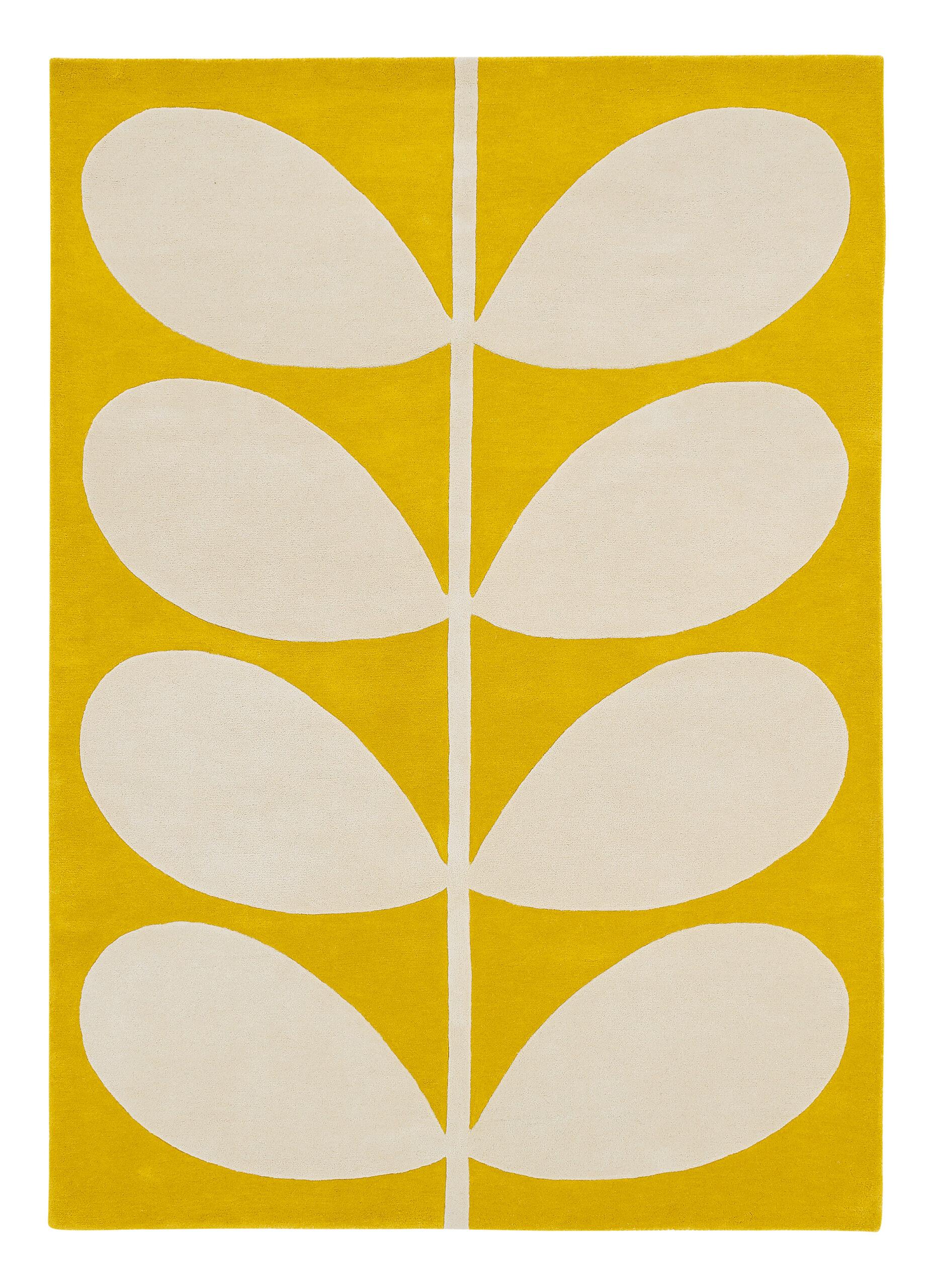 Żółty Dywan w Liście - YELLOW STEM 059306 120x180