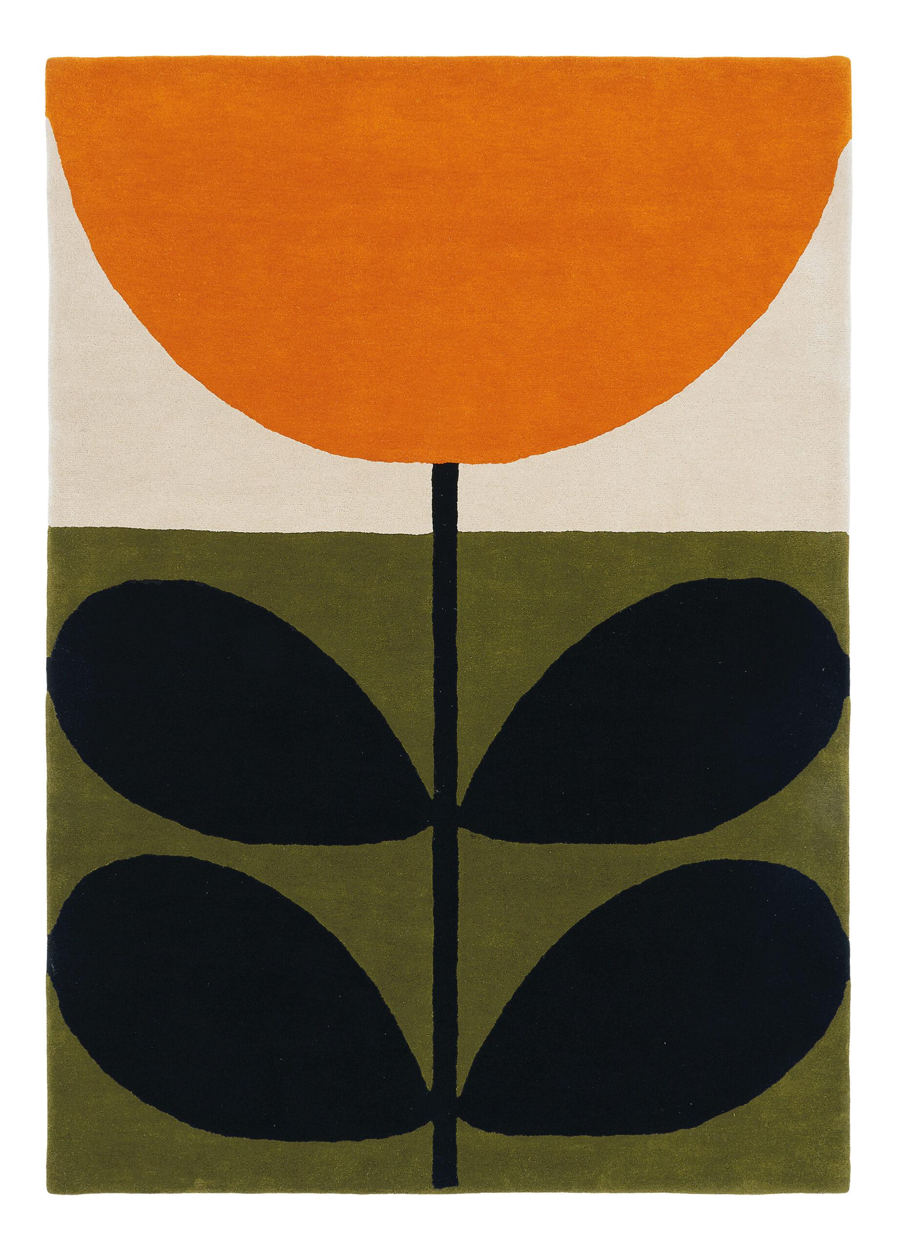 Kolorowy Dywan w Liście i Kwiat - STEM BLACK 059803 120x180