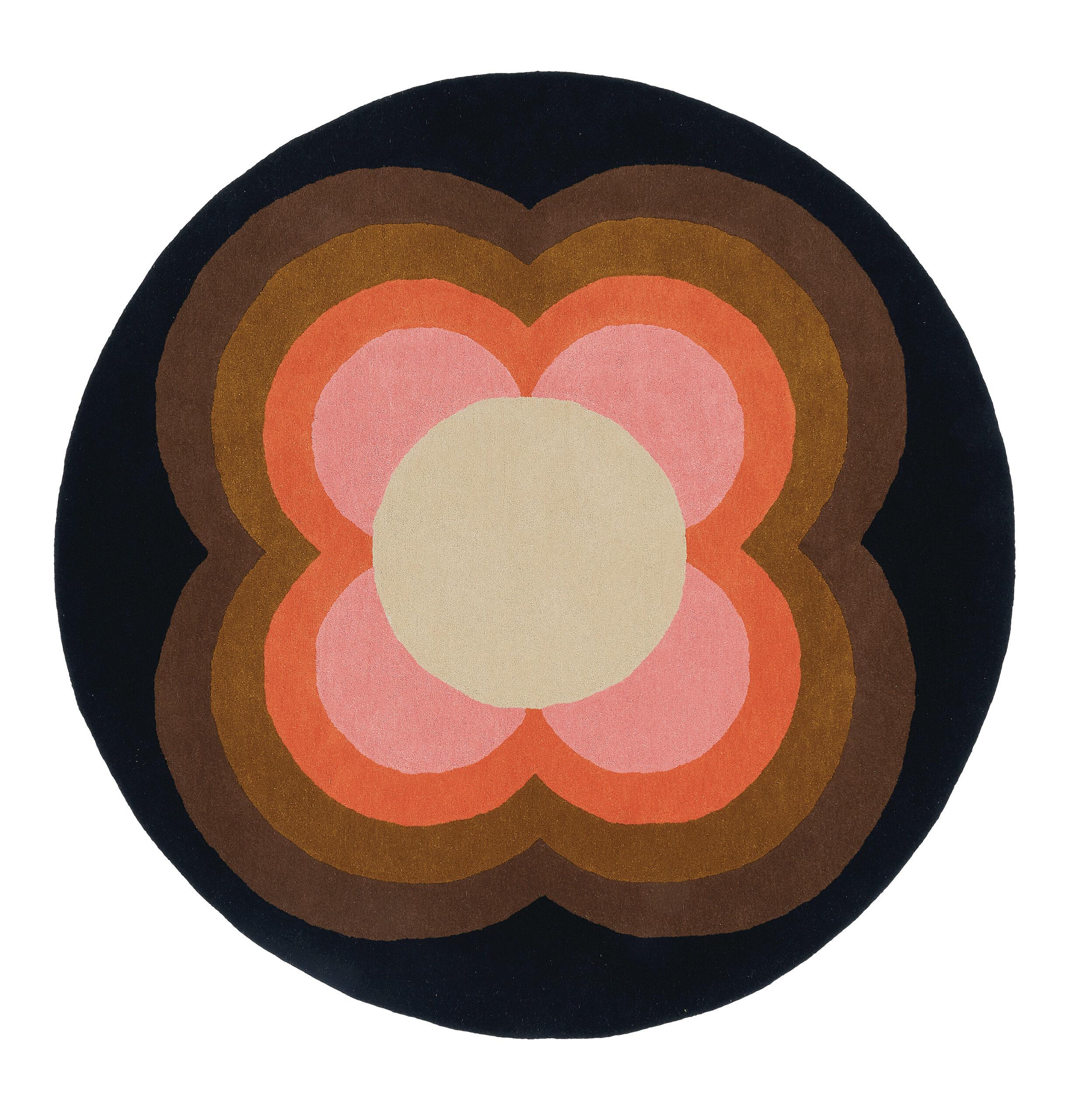 Okrągły Kolorowy Dywan w Kwiaty - SUNFLOWER PINK 060005 150x150