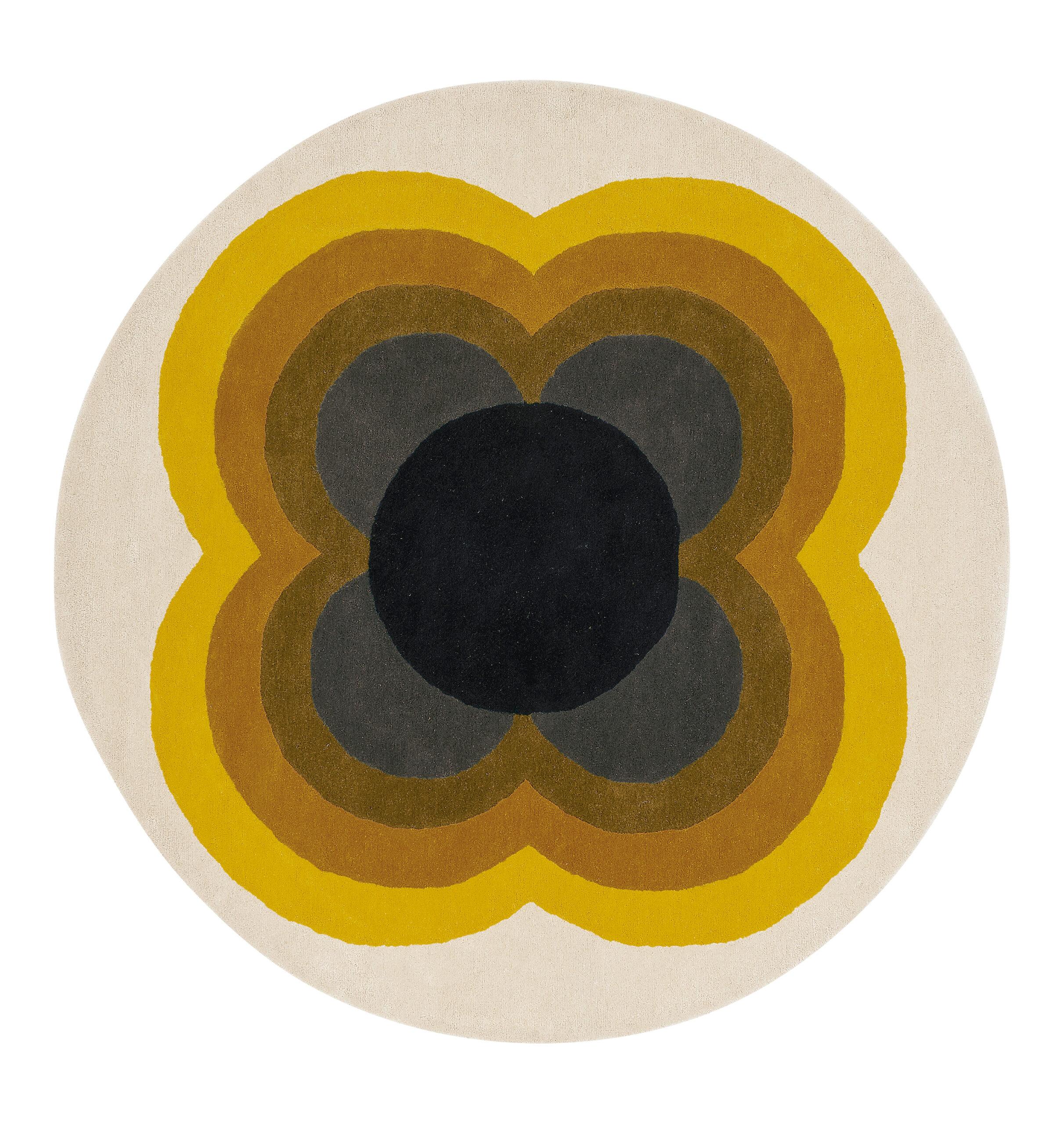 Okrągły Kolorowy Dywan w Kwiaty - SUNFLOWER YELLOW 060006 150x150