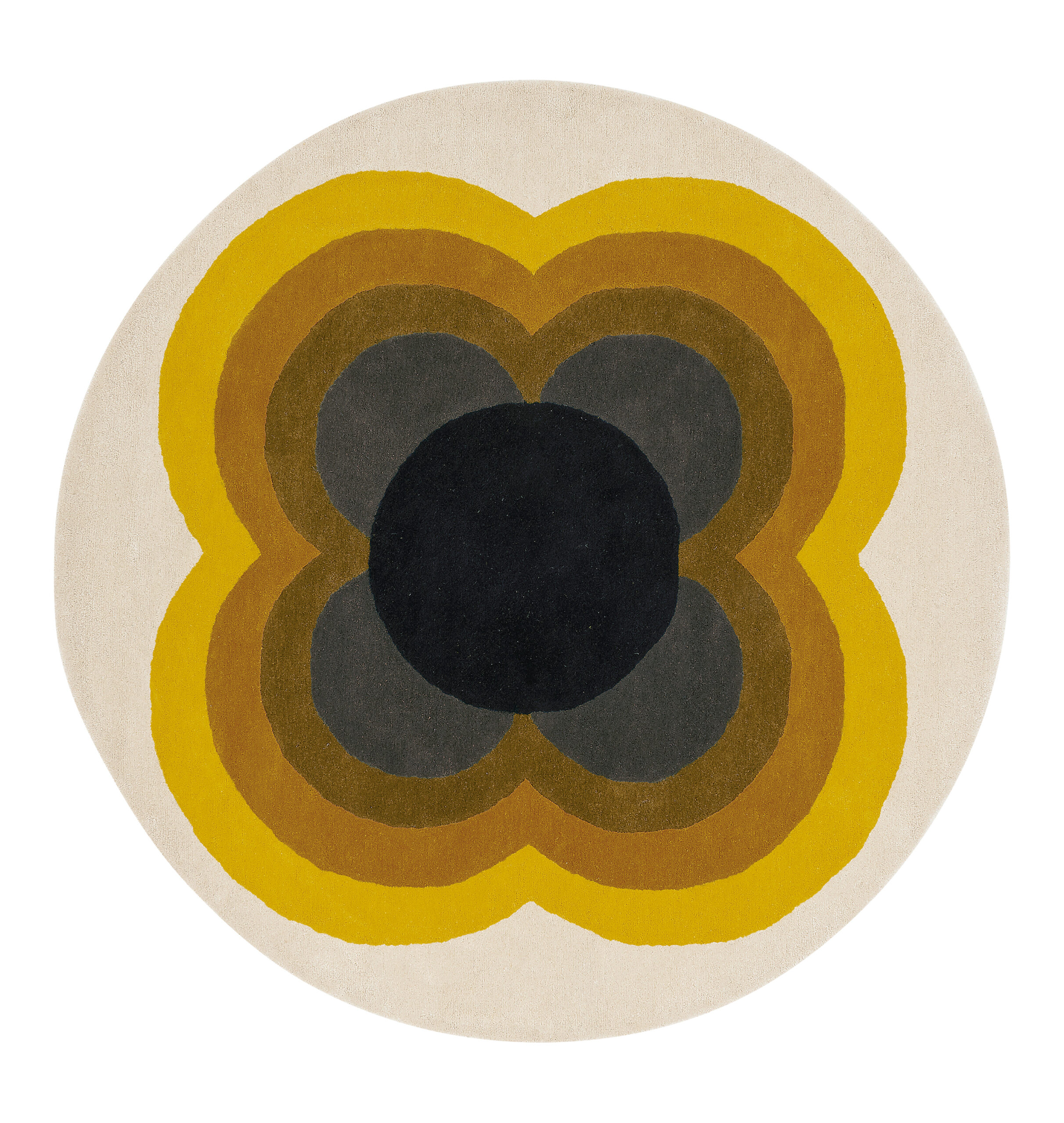 Okrągły Kolorowy Dywan w Kwiaty - SUNFLOWER YELLOW 060006 200x200