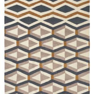 Beżowy Dywan Geometryczny - YARA ARTDECO 33504 170x240