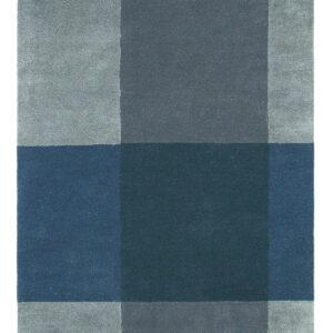 Niebieski Dywan Geometryczny - PLAID GREY 57804 200x280