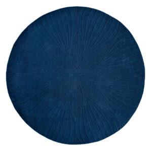 Niebieski Dywan Okrągły - FOLIA ROUND NAVY 38308 200x200